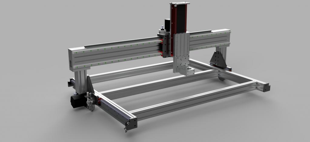 CNC Router model - 3D render